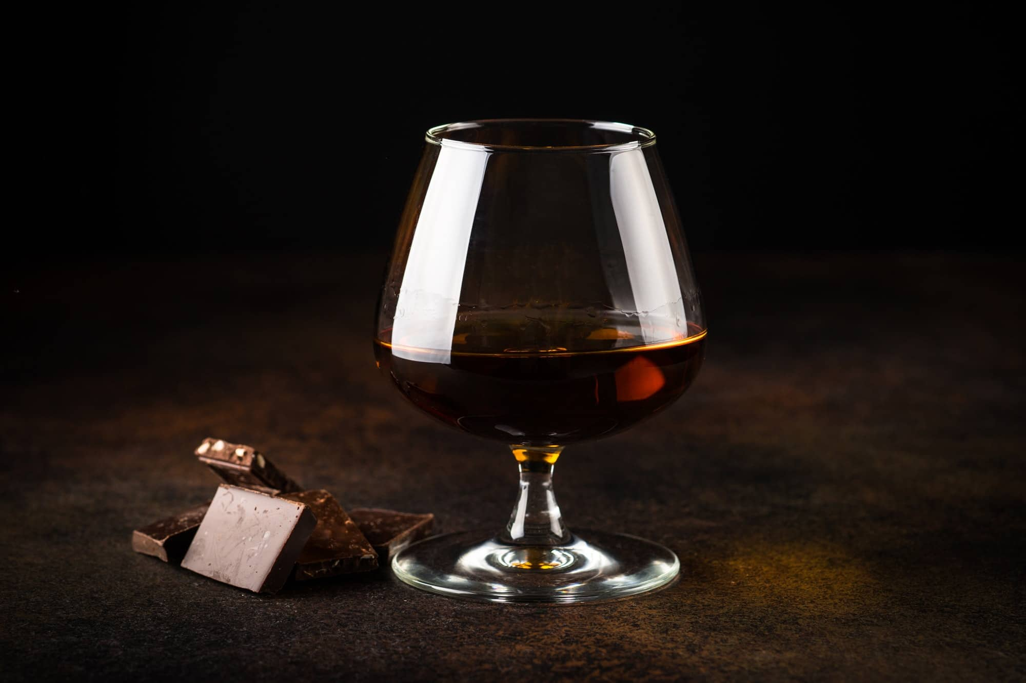Cognac or brandy and chocolate